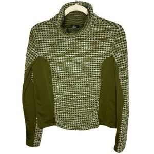 Nike Womens Pullover Knit Green Top Size Large